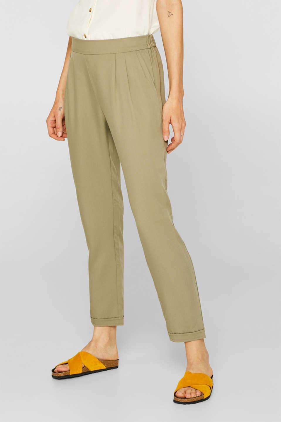 Pants woven, LIGHT KHAKI, detail image number 6