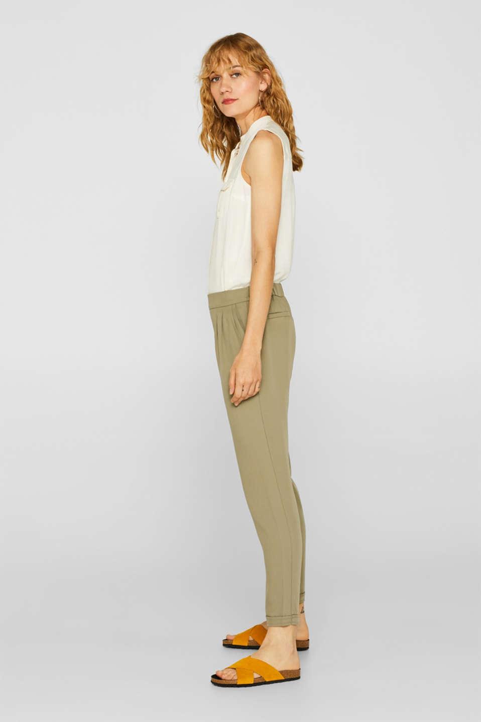 Pants woven, LIGHT KHAKI, detail image number 1