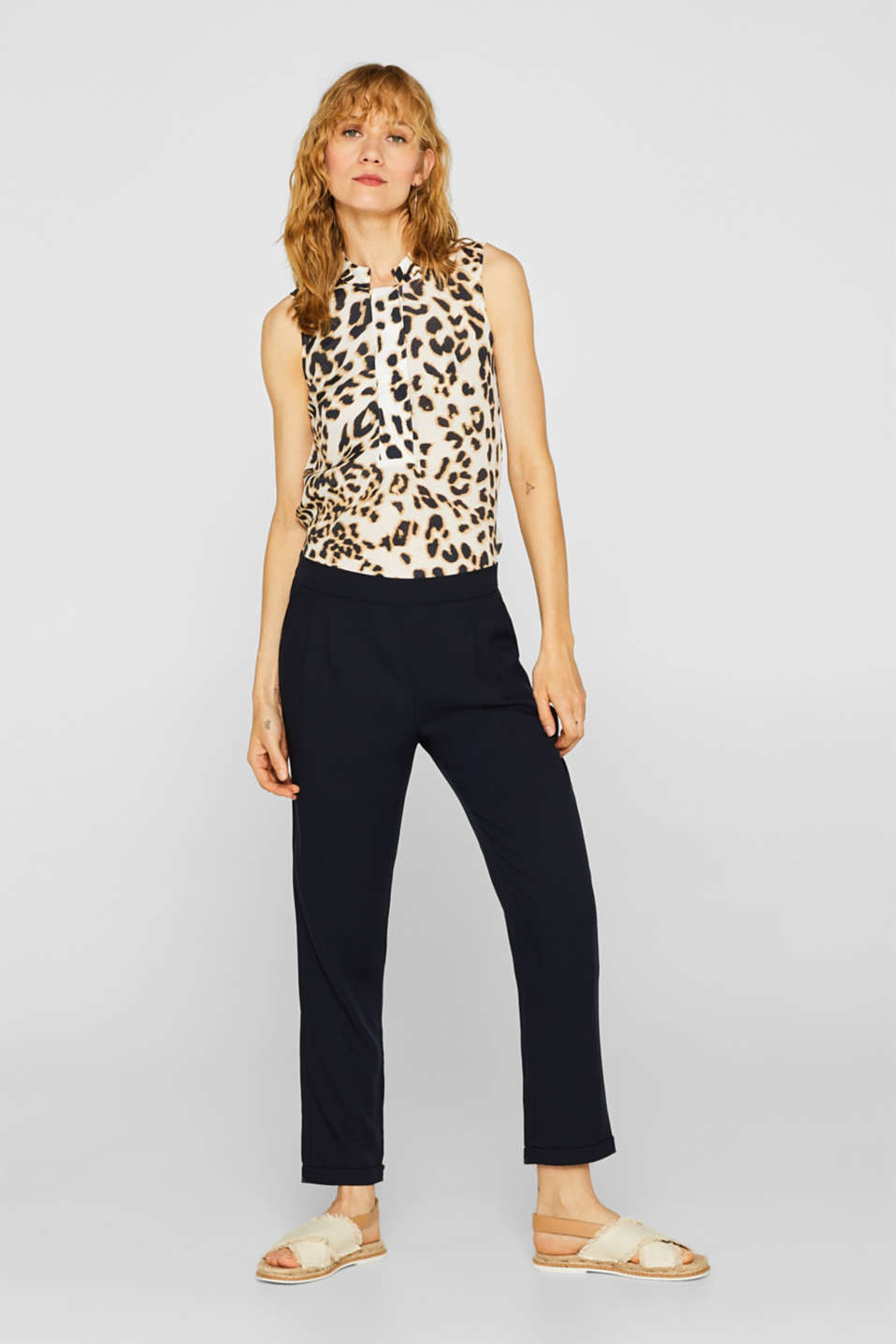 Esprit - STRUCTURED LYOCELL Mix + Match tracksuit bottoms