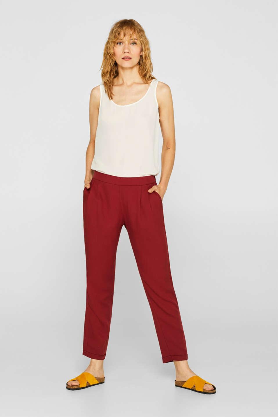Pants woven, BLUSH, detail image number 0