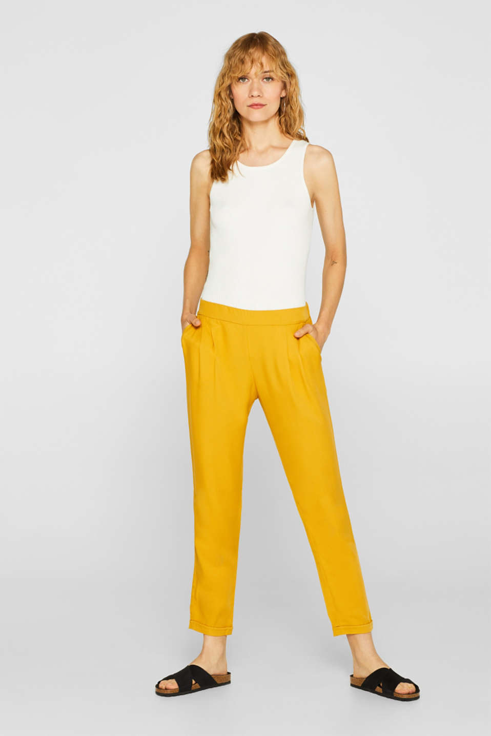 Esprit - STRUCTURED LYOCELL mix + match jogger pants