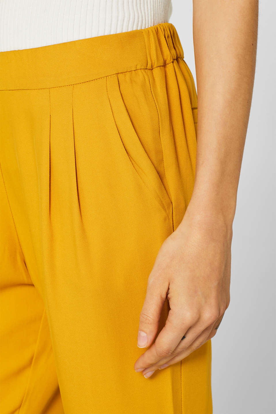 Pants woven, BRASS YELLOW, detail image number 2