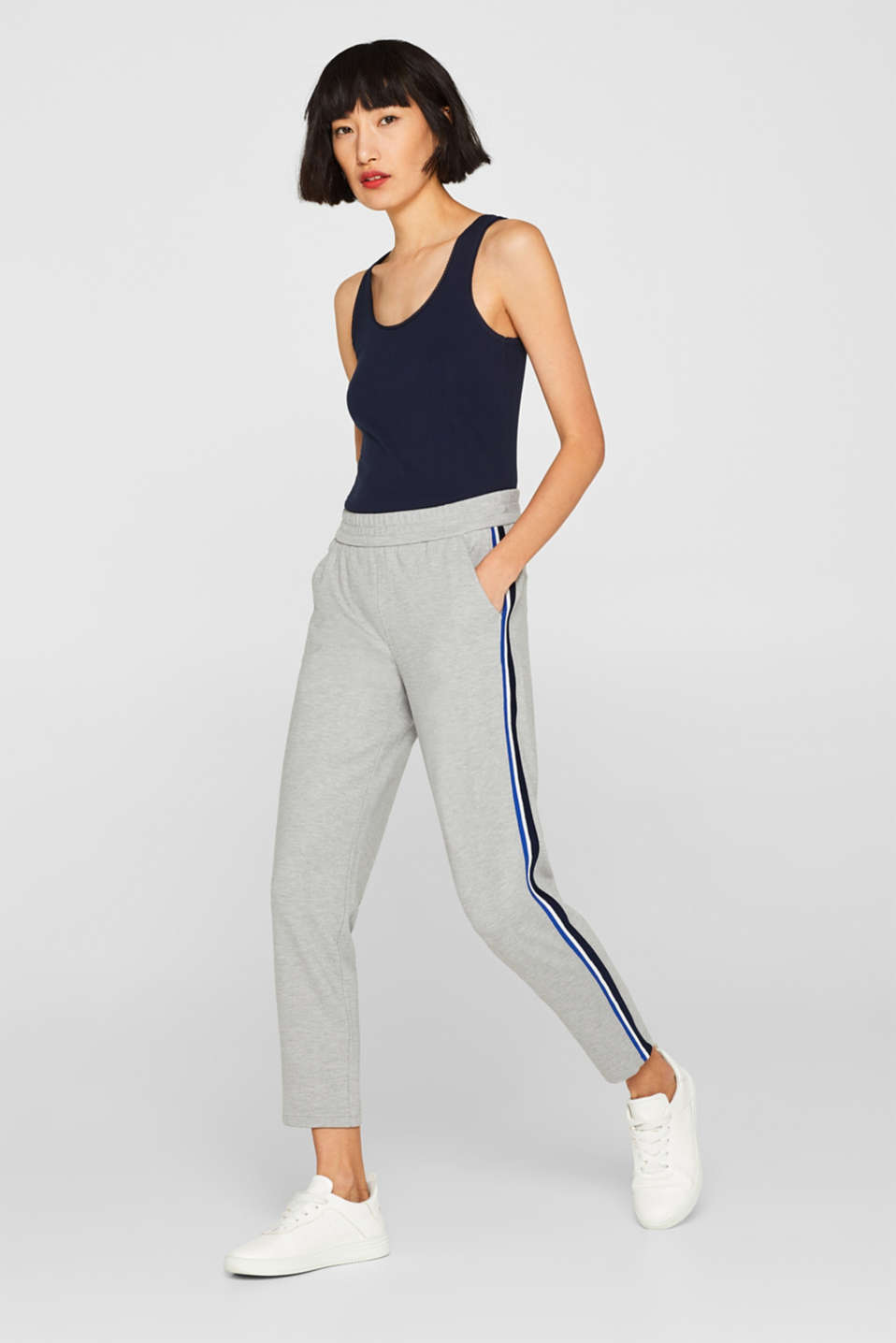 Esprit - Tracksuit bottoms with racing stripes