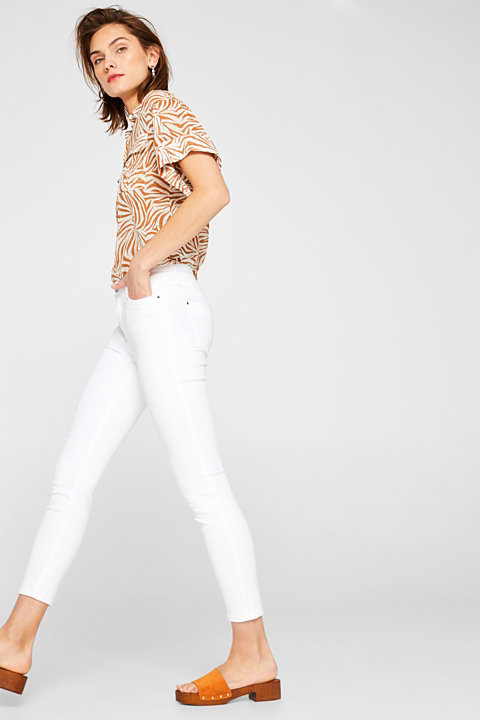 Extremely stretchy ankle-length shaping jeans
