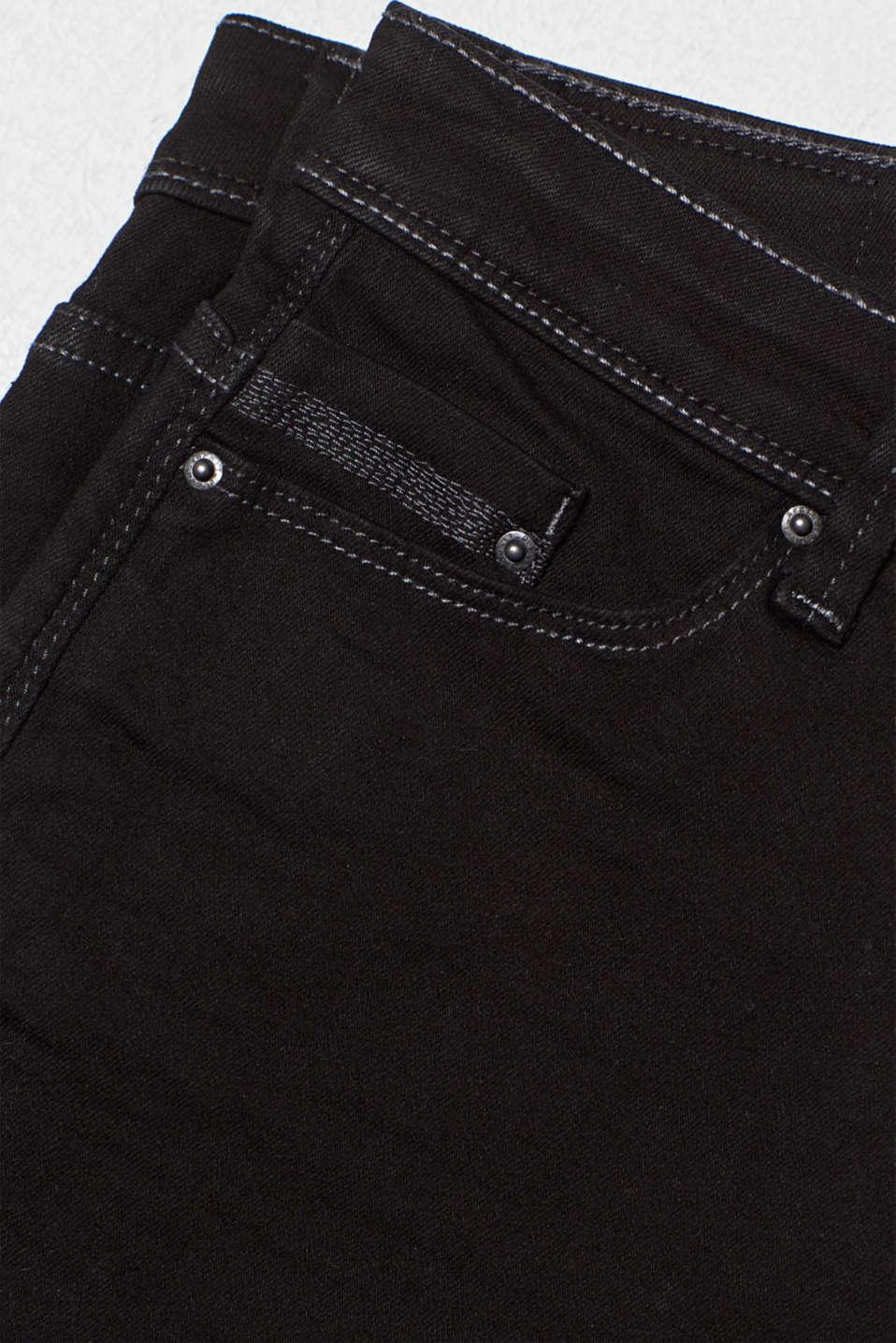 Stretch denim shorts containing organic cotton, BLACK, detail image number 4