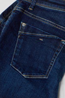 Stretch denim shorts containing organic cotton, BLUE DARK WASH, detail