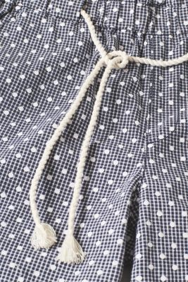 Checked shorts with a polka dot print, 100% cotton