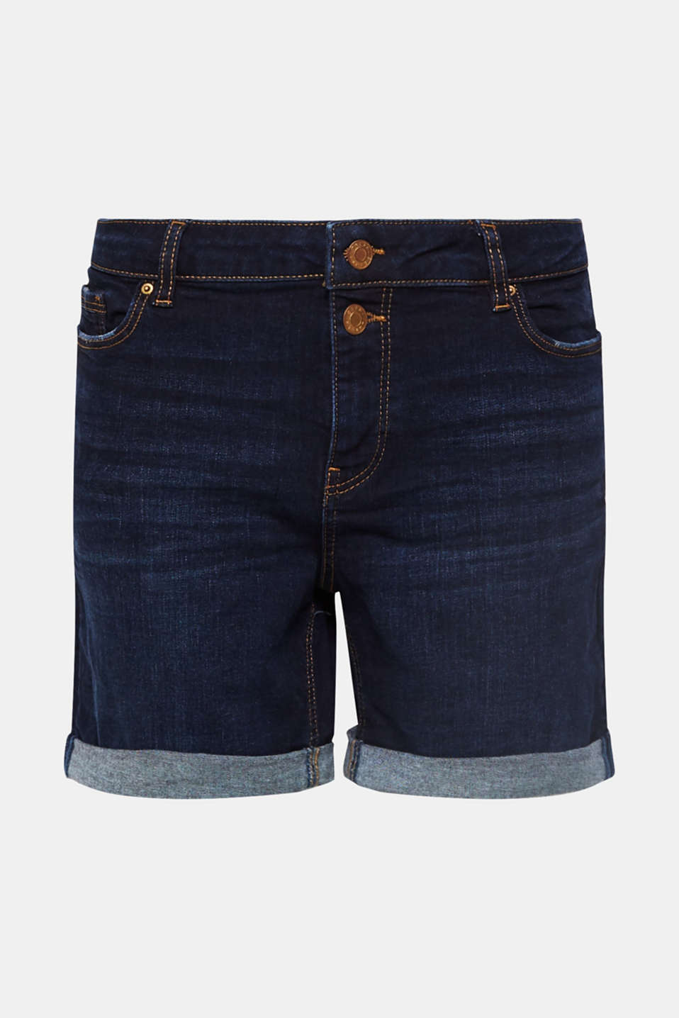 Shorts denim, BLUE DARK WASH, detail image number 8