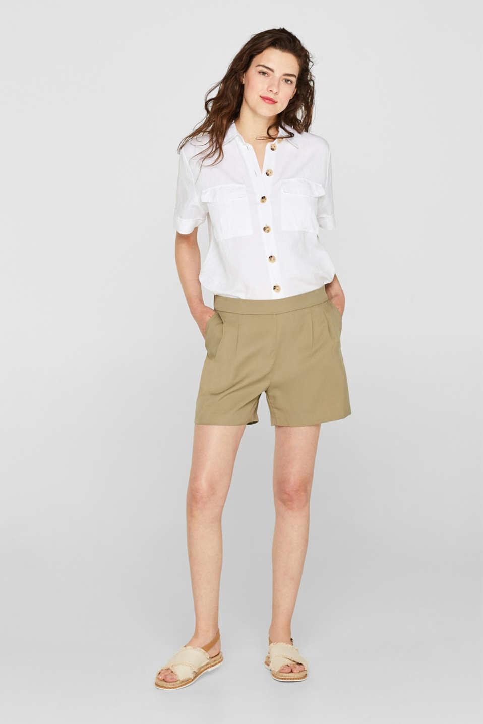 Shorts woven, LIGHT KHAKI, detail image number 1