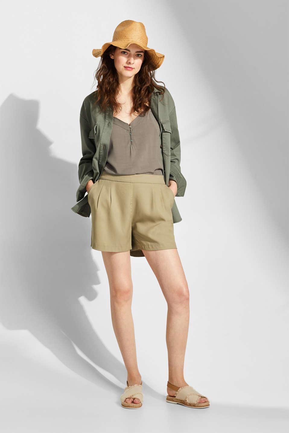 Shorts woven, LIGHT KHAKI, detail image number 7