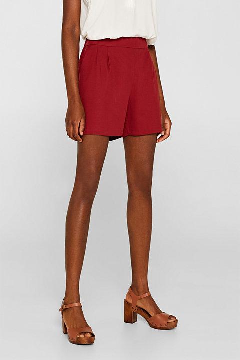 Textured lyocell shorts