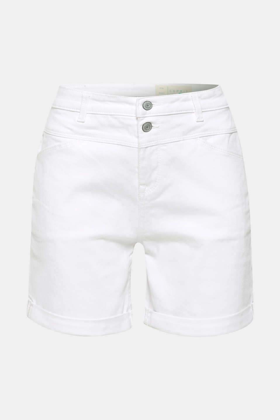Shorts denim, WHITE, detail image number 7