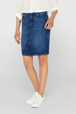 0d5cdb9348 Esprit - Stretch denim skirt with organic cotton at our Online Shop