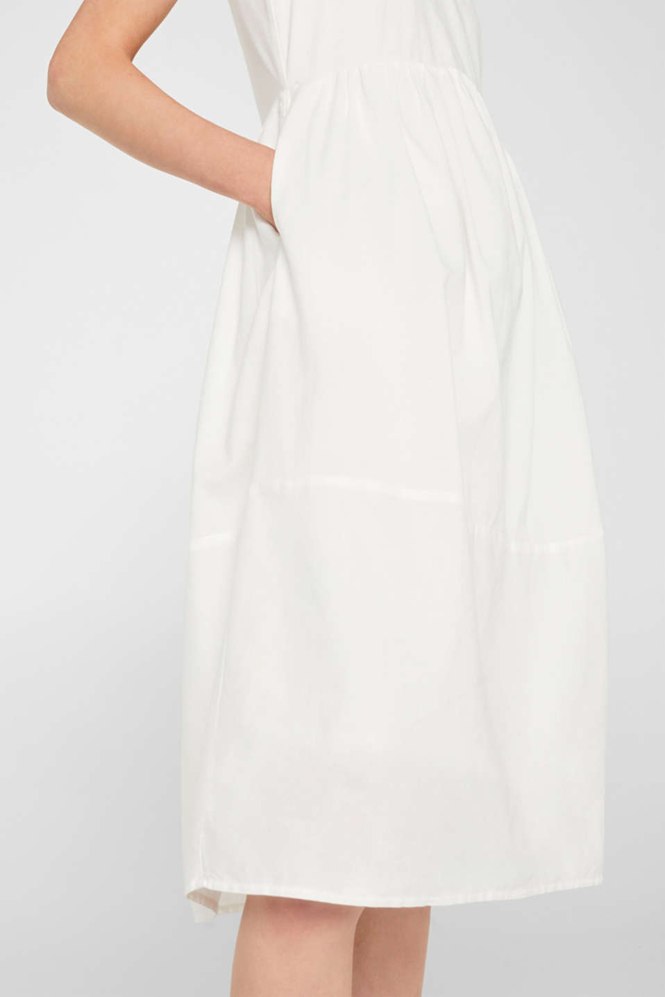 Dresses light woven, OFF WHITE, detail image number 4