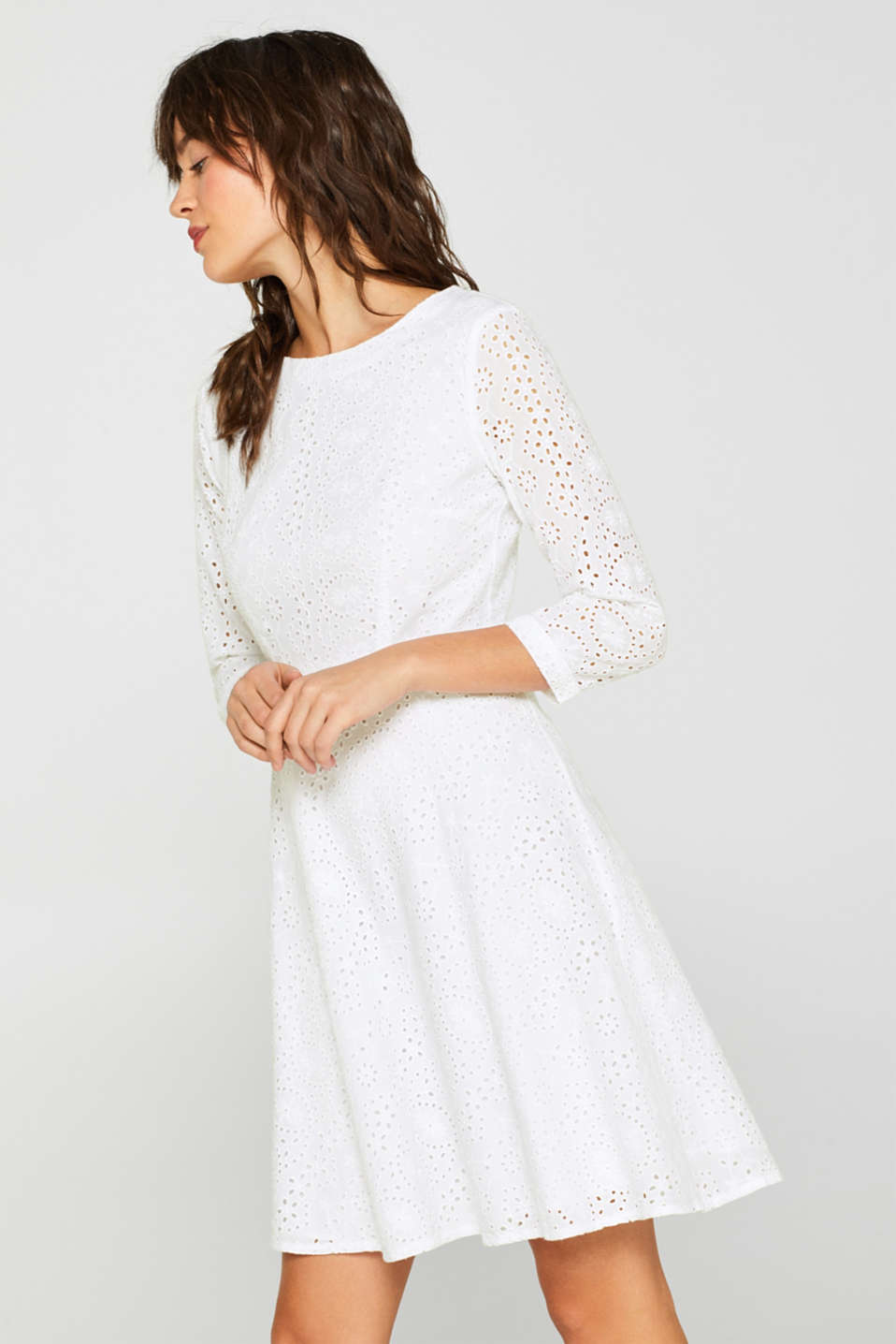 Dresses light woven, WHITE, detail image number 5
