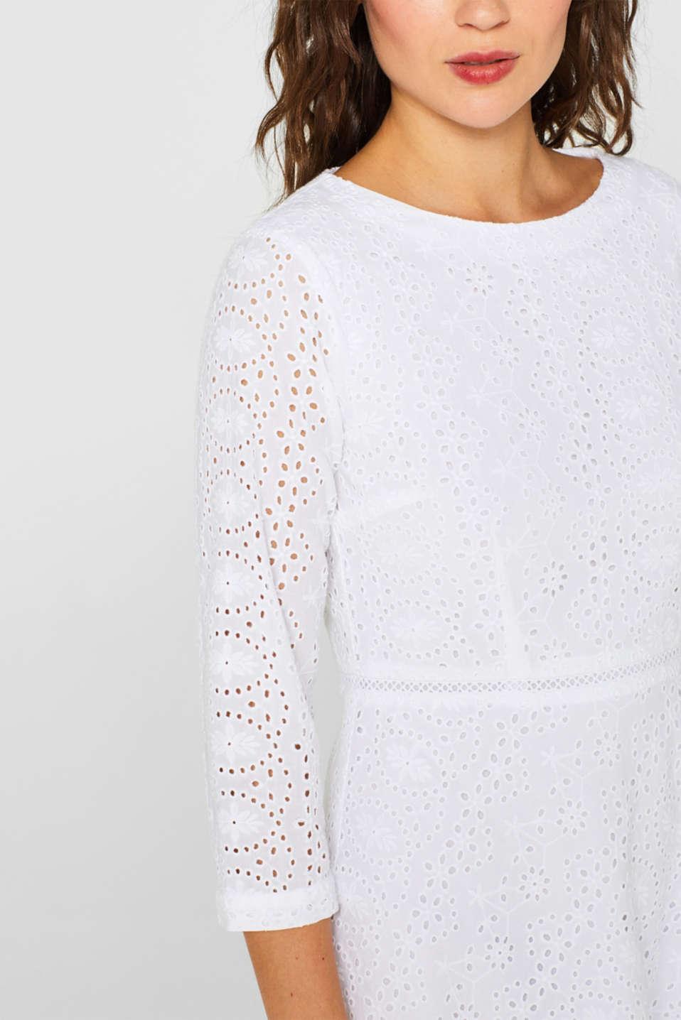 Dresses light woven, WHITE, detail image number 3