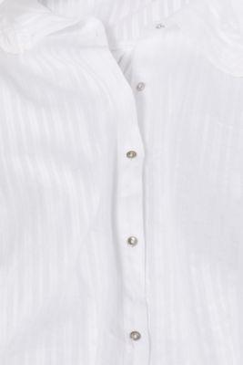 Semi sheer striped blouse, 100% cotton