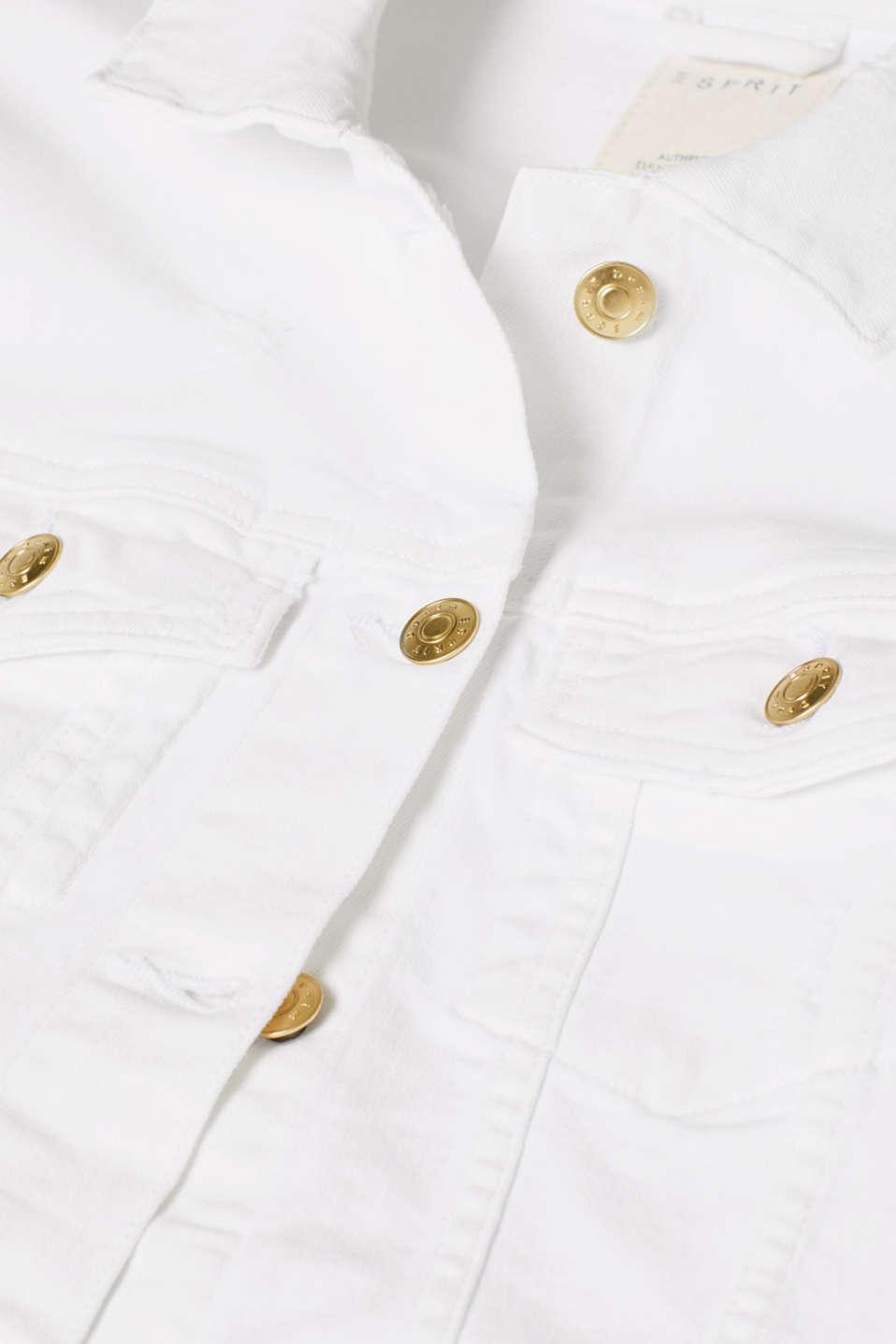 Jackets indoor denim, WHITE, detail image number 4