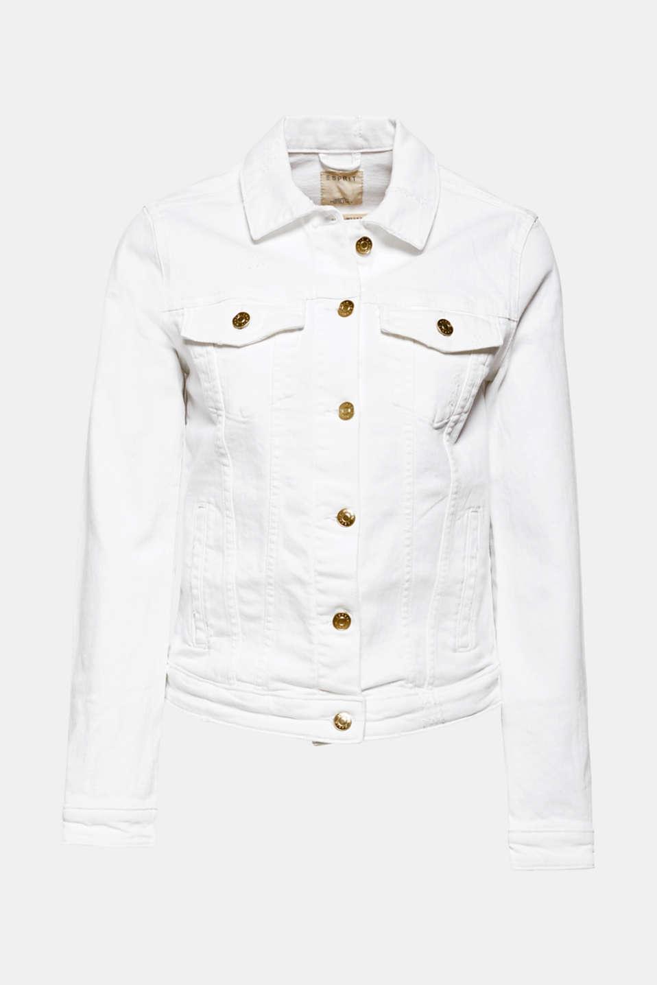 Jackets indoor denim, WHITE, detail image number 6