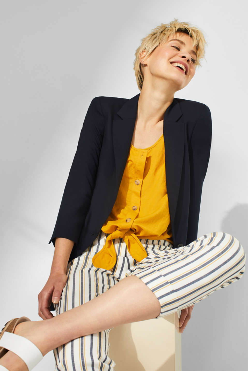 Esprit - STRUCTURED LYOCELL - Blazer Mix+Match
