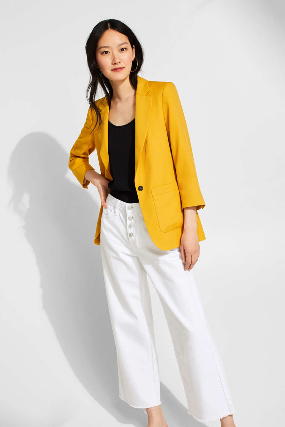 Esprit - STRUCTURED LYOCELL Mix + Match: Blazer