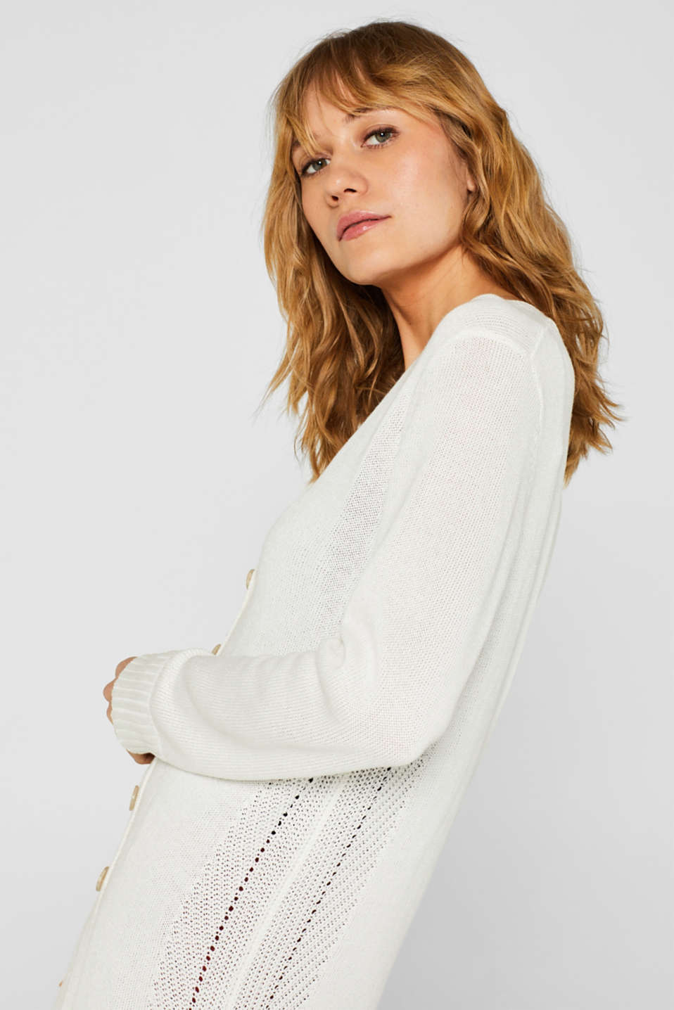 Sweaters cardigan, OFF WHITE, detail image number 6