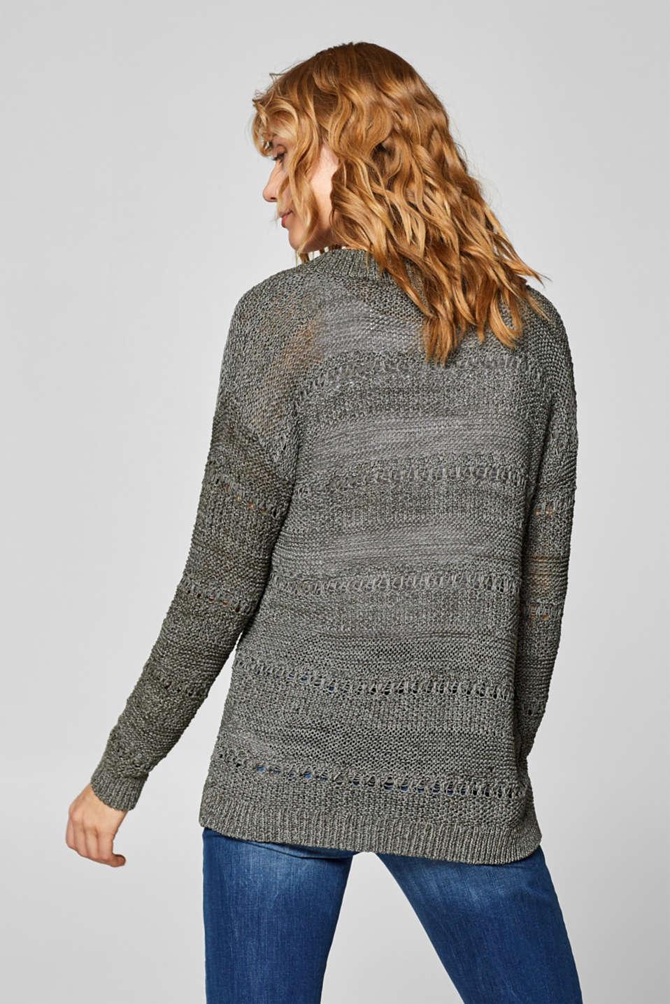 Sweaters, DARK KHAKI, detail image number 3