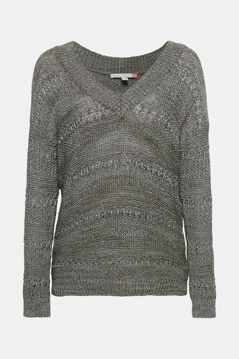 Sweaters, DARK KHAKI, detail image number 6