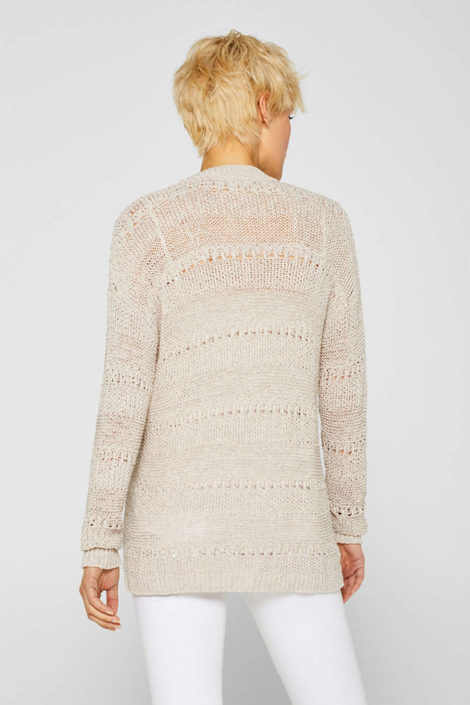 Sweaters cardigan, LIGHT BEIGE, detail image number 3