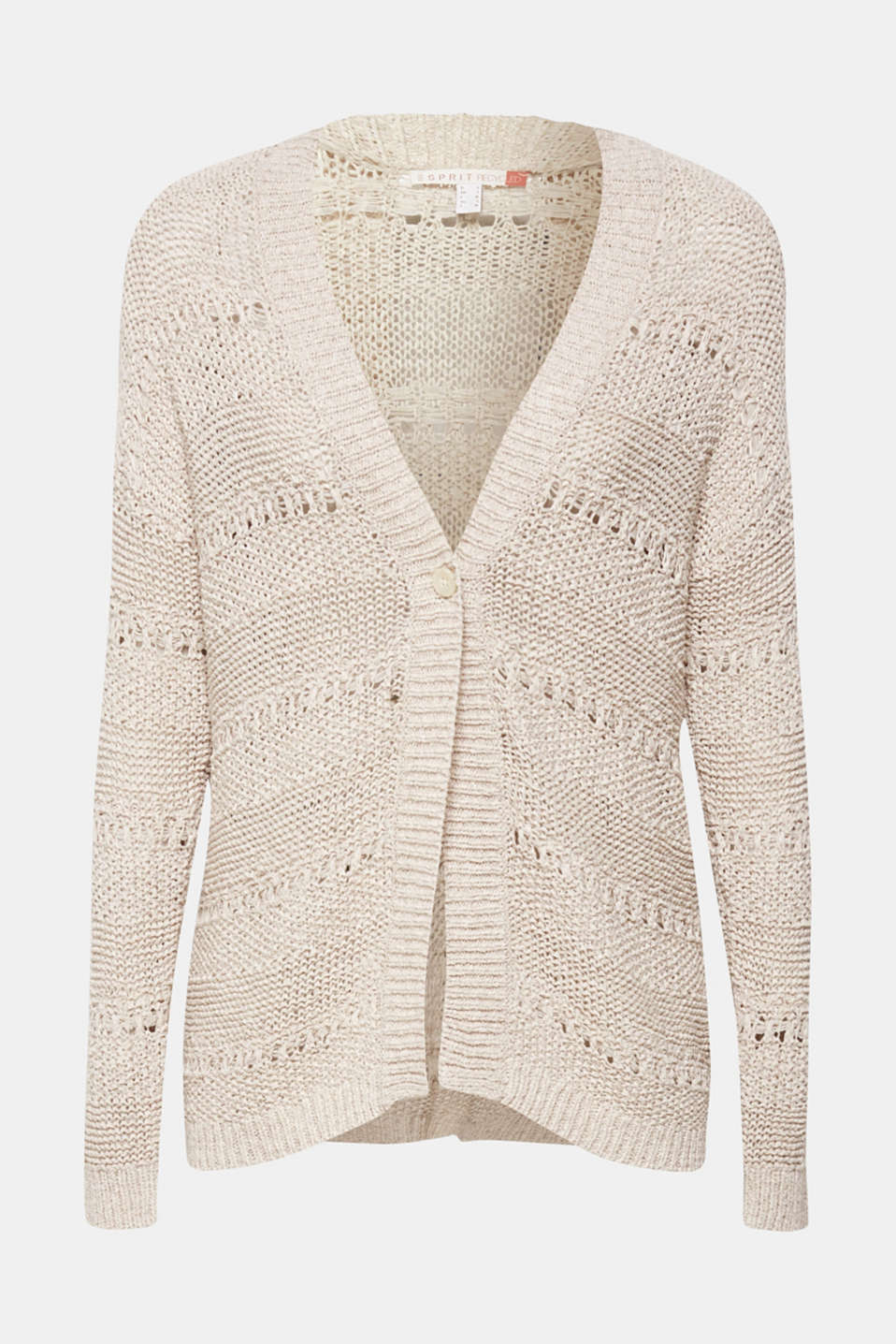 Sweaters cardigan, LIGHT BEIGE, detail image number 8