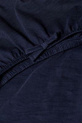 Carmen top with organic cotton, 100% cotton, NAVY, detail