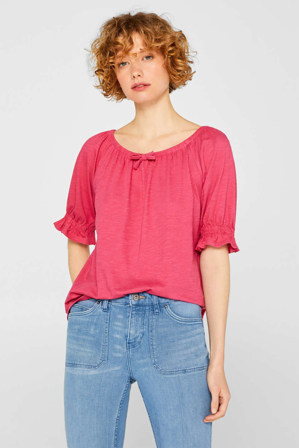 Esprit - Carmen top with organic cotton, 100% cotton