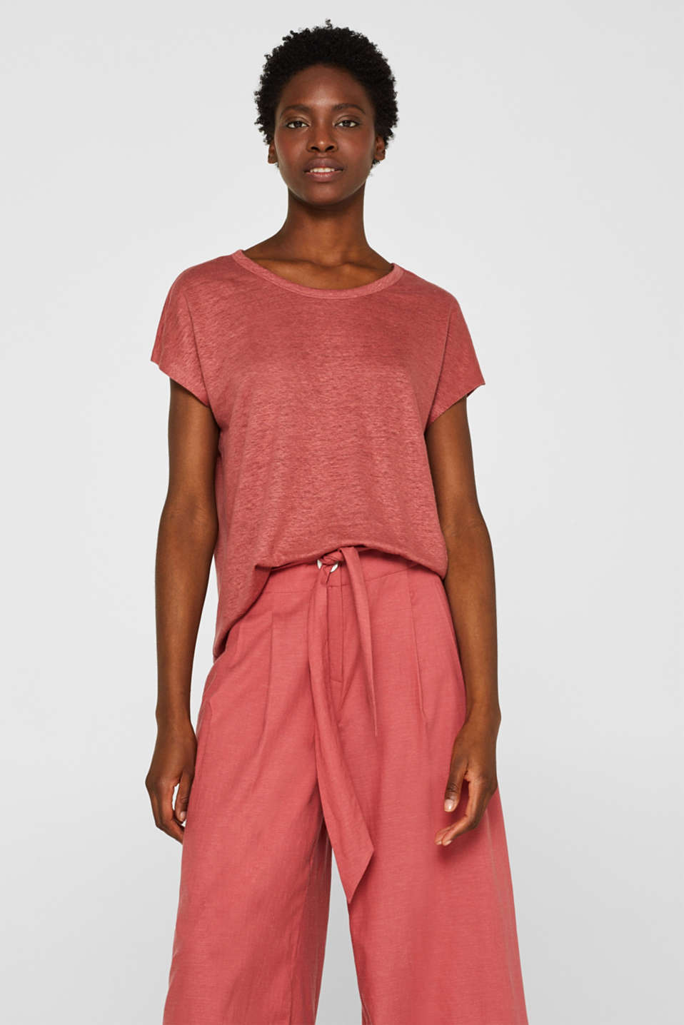 Esprit - Melange top in 100% linen