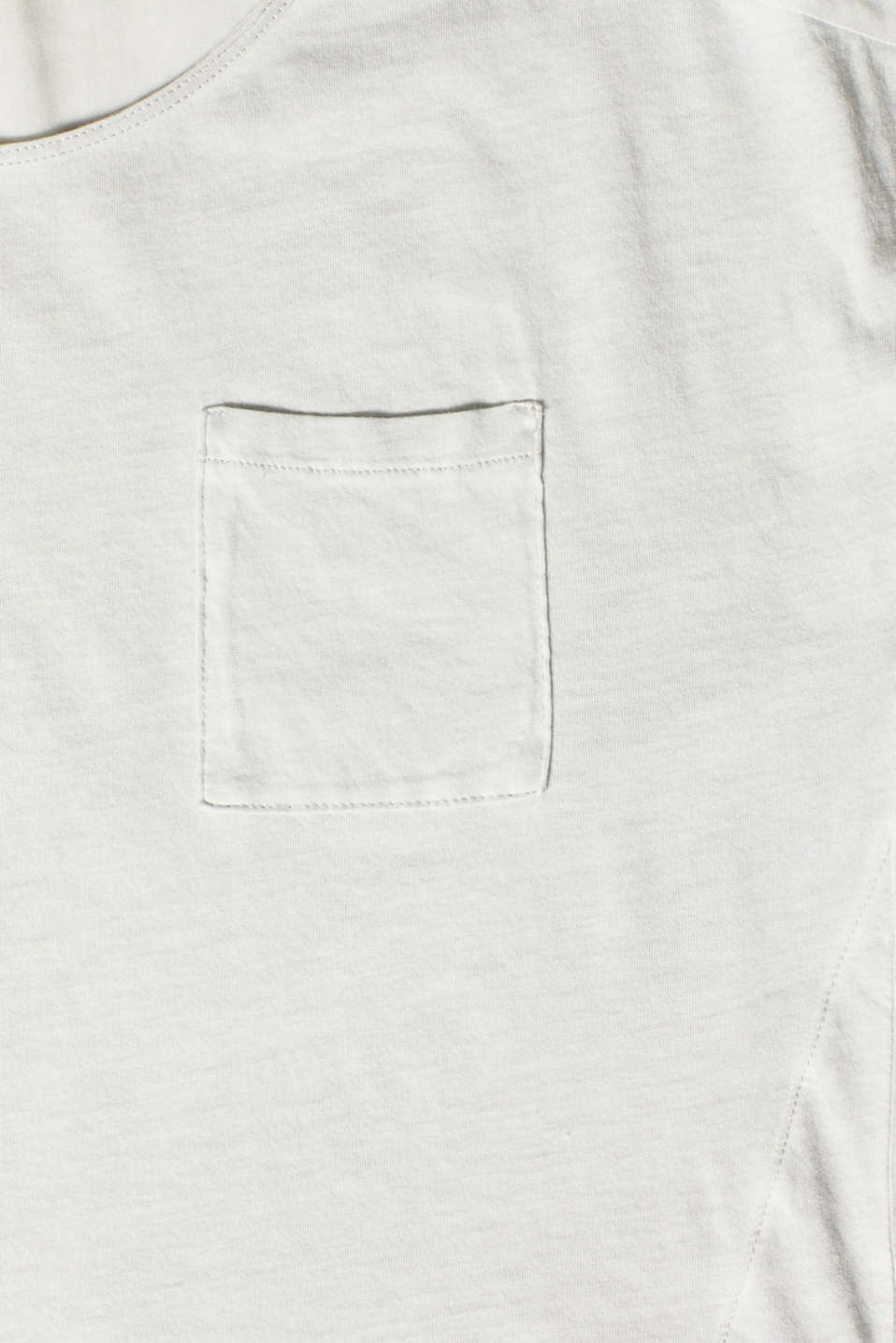 T-shirt in blended fabric with a breast pocket, LIGHT GREY, detail image number 4