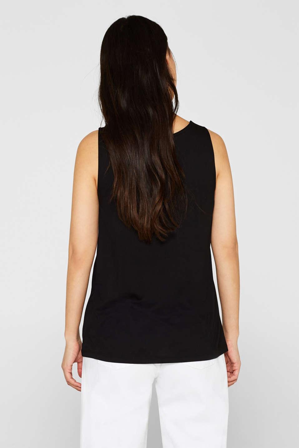 Comfortable basic top with a V-neckline, BLACK, detail image number 2