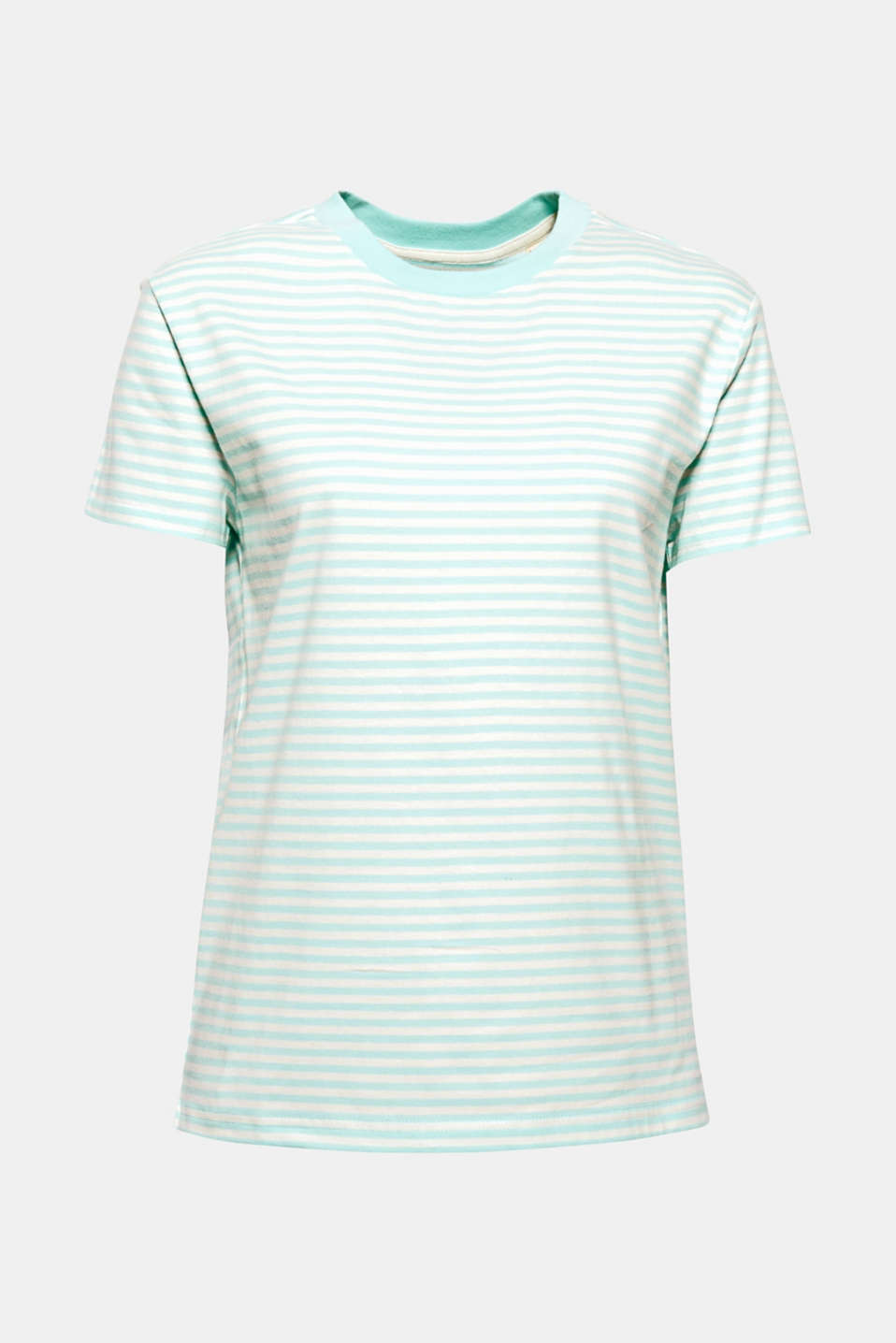 Top with a striped pattern, 100% cotton, AQUA GREEN 4, detail image number 6