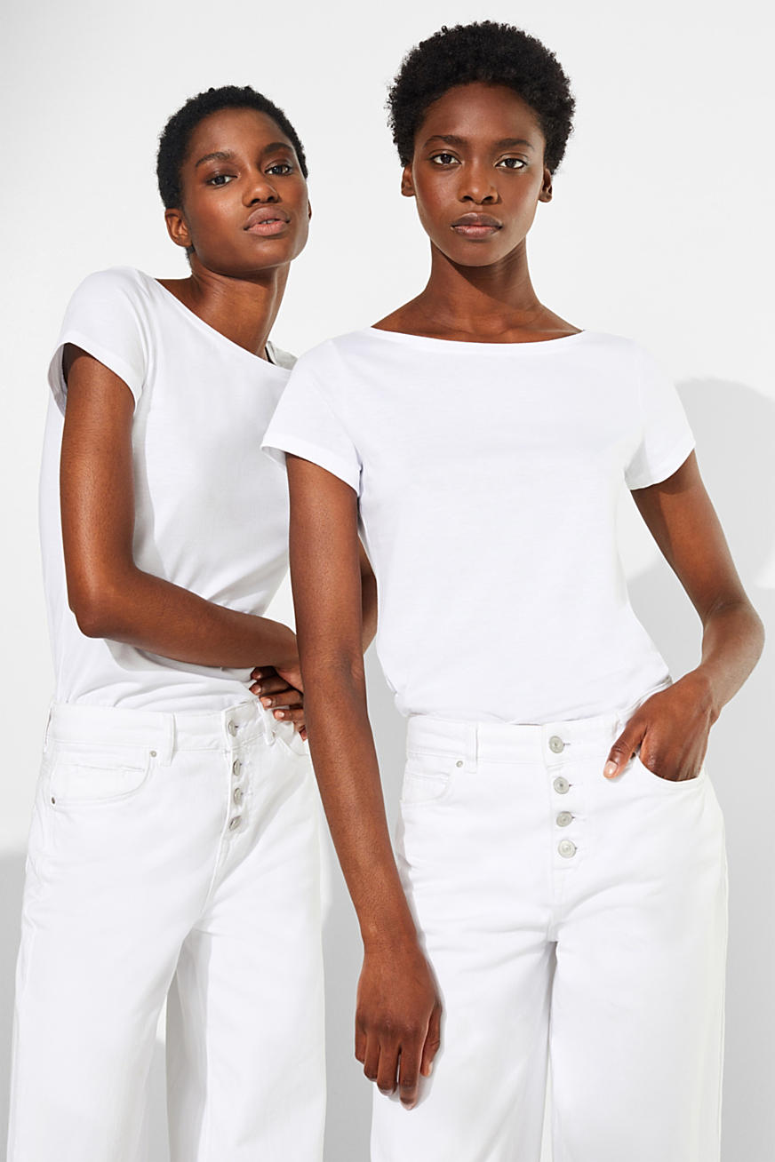 Double pack of bateau neck tees