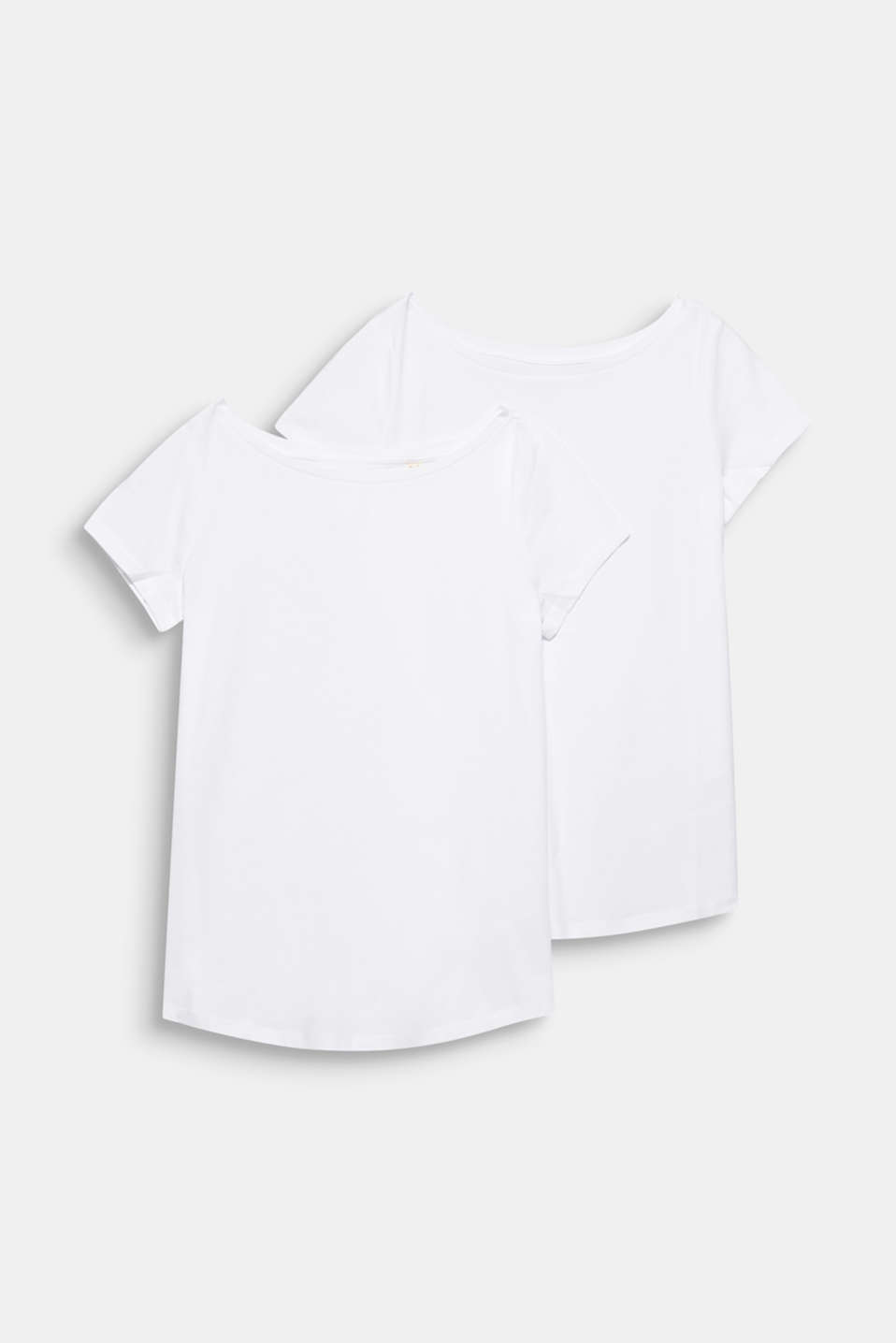 Double pack of bateau neck tees, WHITE, detail image number 7