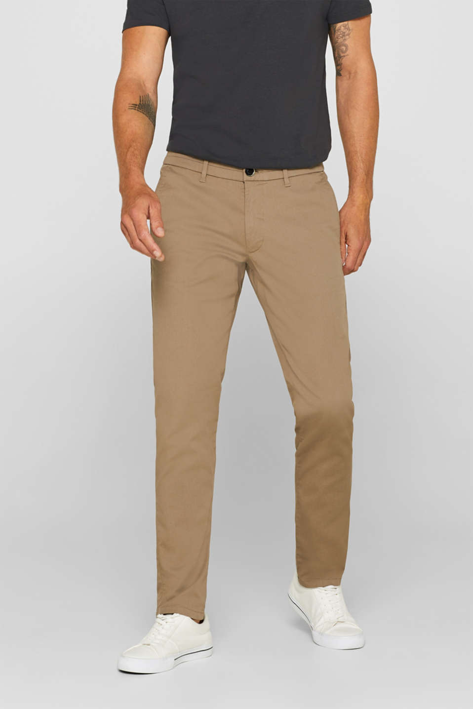 Pants woven, BEIGE, detail image number 0
