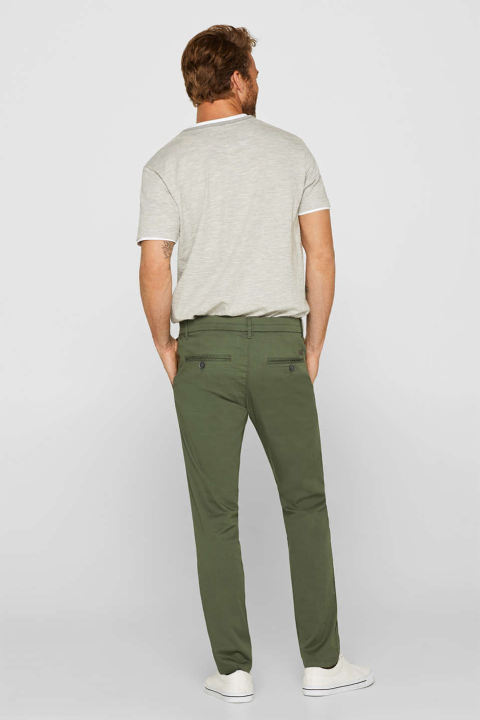 Pants woven, KHAKI GREEN, detail image number 3
