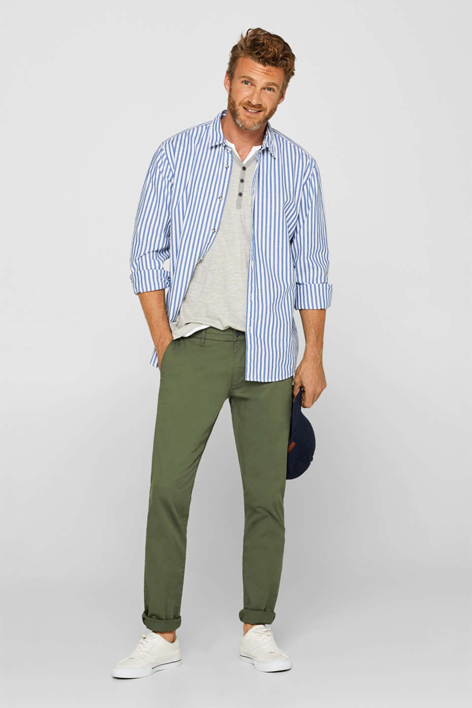 Pants woven, KHAKI GREEN, detail image number 1