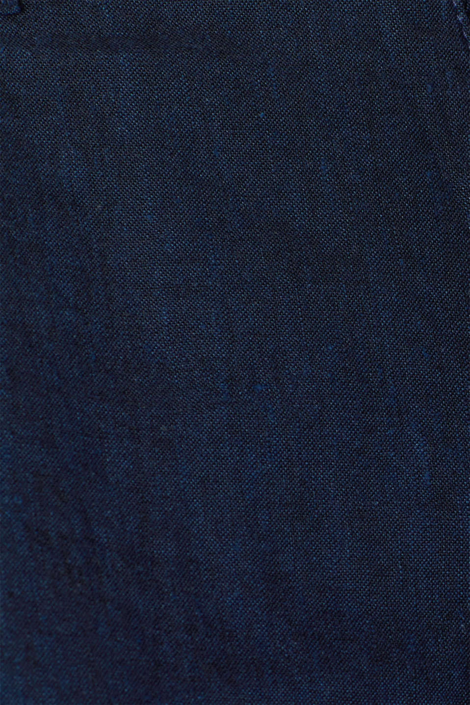 Linen blend: Trousers with stretch for comfort, NAVY, detail image number 4