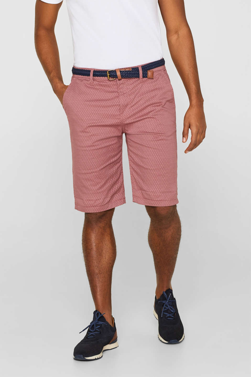 Esprit - Printed Bermudas shorts made of stretch cotton