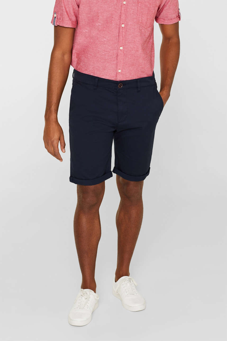 Esprit - Chino-Shorts aus Baumwoll-Stretch