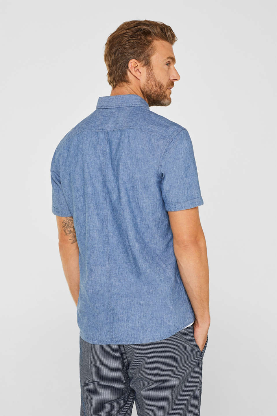 Shirts woven Regular fit, BLUE MEDIUM WASH, detail image number 3
