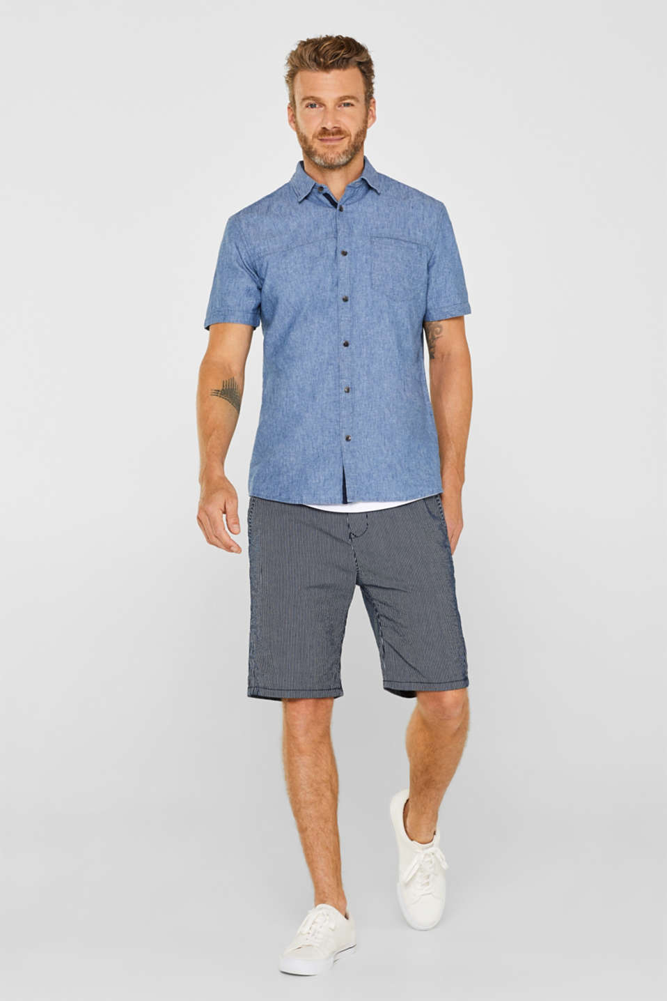 Shirts woven Regular fit, BLUE MEDIUM WASH, detail image number 5