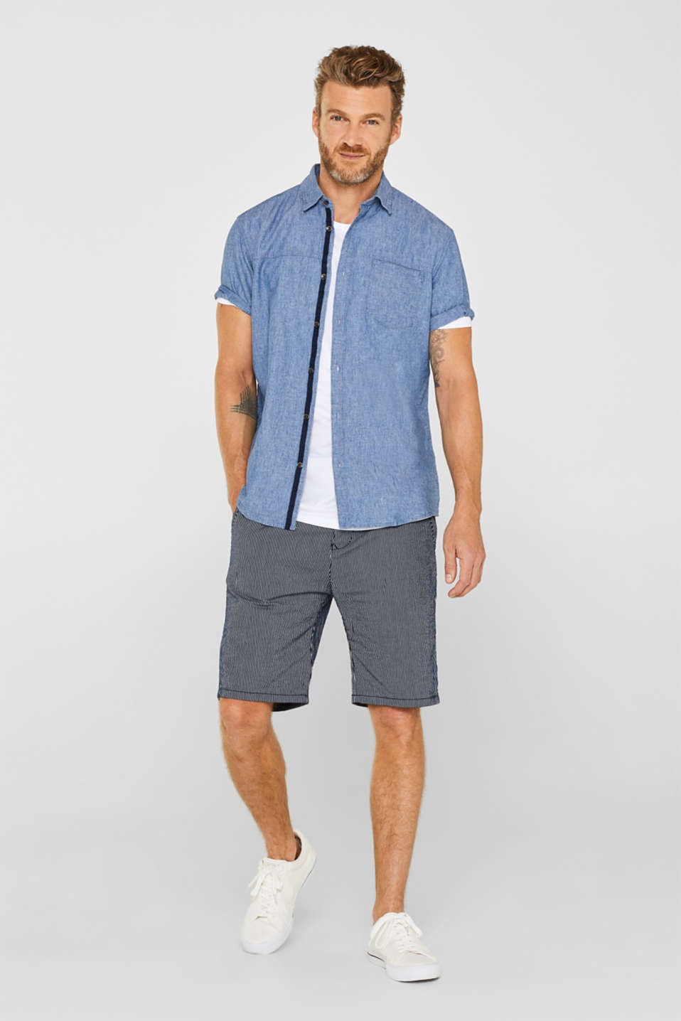 Shirts woven Regular fit, BLUE MEDIUM WASH, detail image number 1