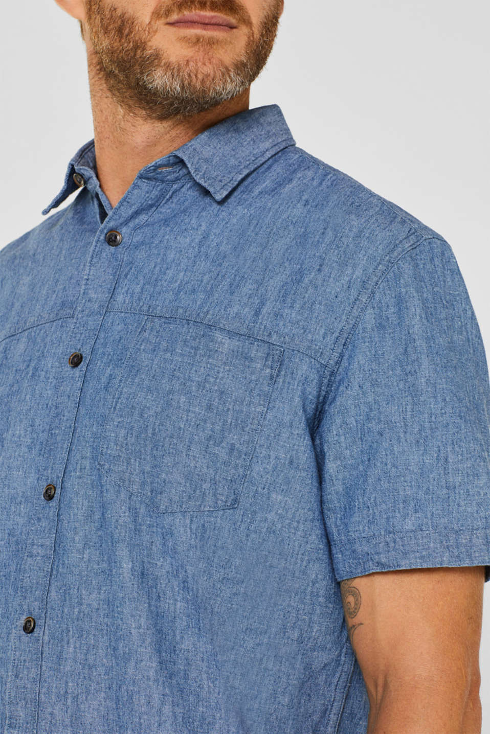 Shirts woven Regular fit, BLUE MEDIUM WASH, detail image number 2