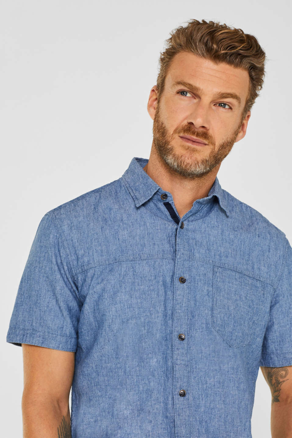 Shirts woven Regular fit, BLUE MEDIUM WASH, detail image number 6