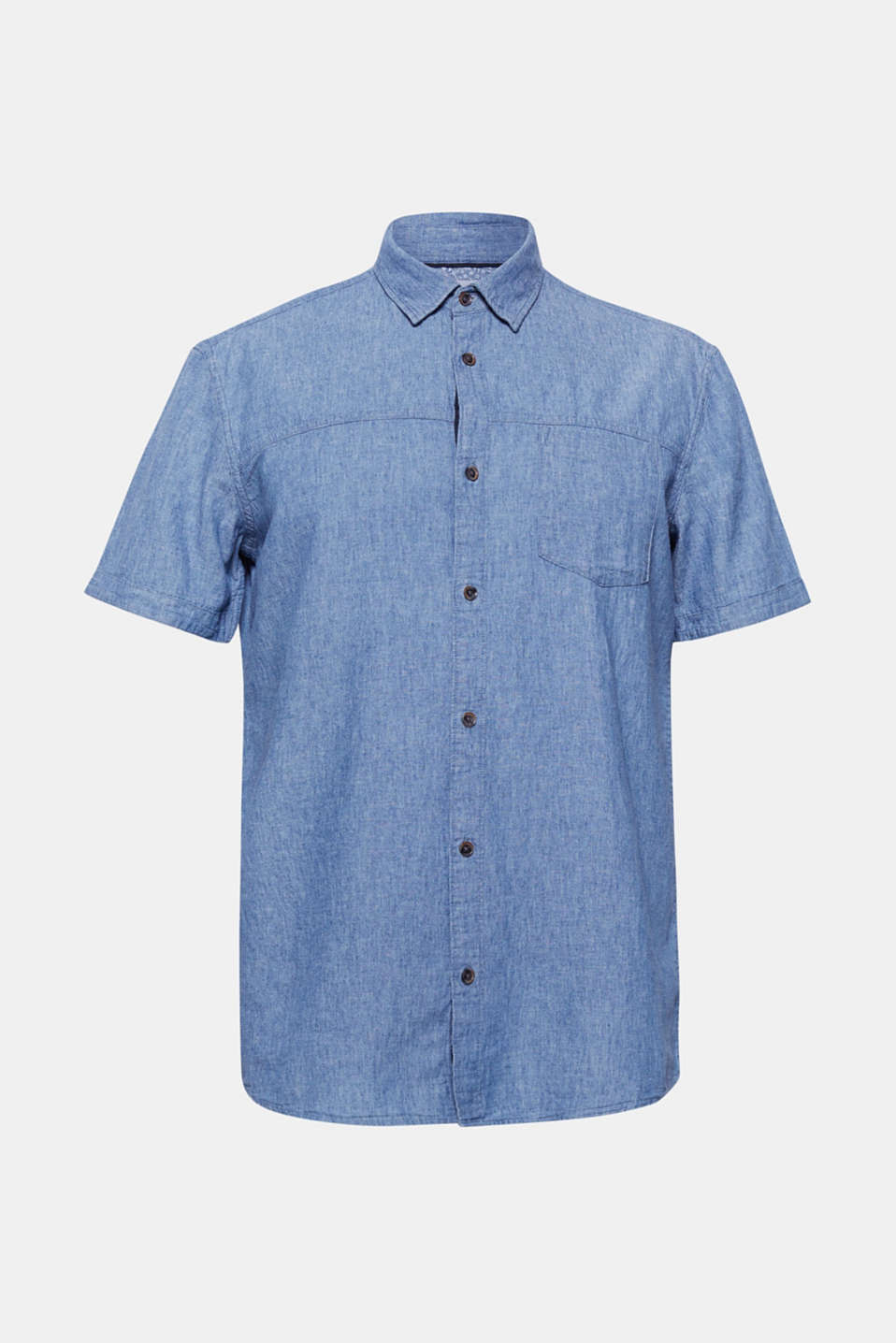 Shirts woven Regular fit, BLUE MEDIUM WASH, detail image number 7